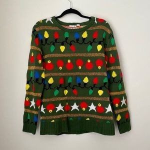 Ugly Christmas Sweater Army Green/Multicoloured